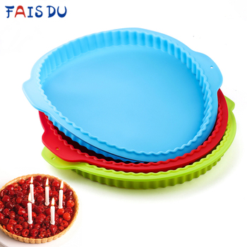 10 Inch Pizza Round Wave Edge Silicone Baking Pans Handmade Cookie Bread Loaf Pizza Pie Toast Tray Thin Cake Mold Kitchen Tools
