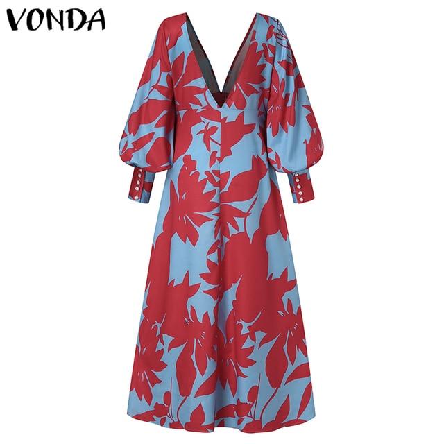 amazing maxi dress with long lantern sleeves, elegant yet comfortable  4