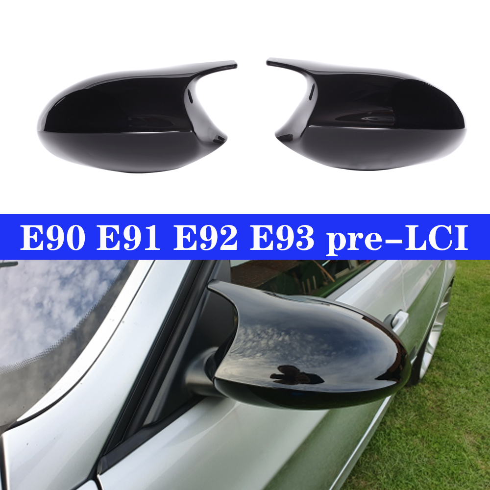 BMW M STYLE ULTRA GLOSS BLACK MIRROR REPLACEMENT COVERS FOR 1 2 3 4 SERIES