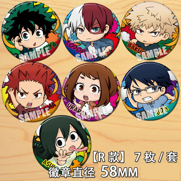Anime My Hero Academia Midoriya Izuku Bakugou Katsuki Cartoon Badge Button Brooch Pins Collect Backpacks Bedge Pendant Cosplay