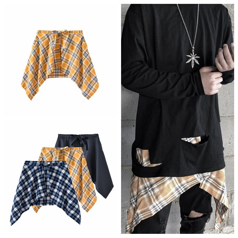 Ins Europe And America High Street Hip Hop Street Swallowtail Hem With Men And Women Couples Wild Apron Accessories Hakama