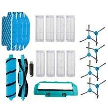 Escova lateral filtro de rolo principal escova para conga 3490 3290 aspirador mop panos para xiaomi mijia styj02ym peças