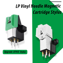Leory cartucho magnético com agulha lp, 1 peça, acessórios stylus para gravação de vinil