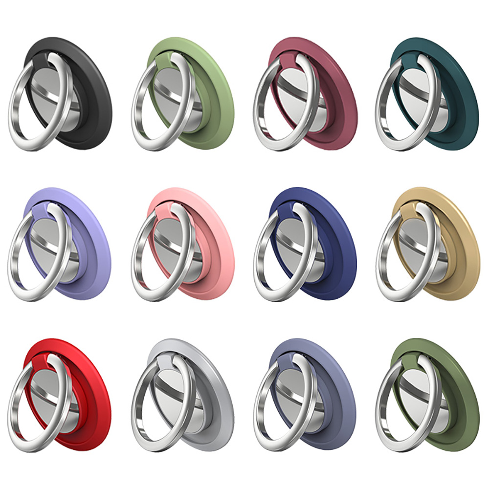 Phone Holder Finger Ring Stand 360 Degree Rotation Round Phone Ring holder Car Stand Mobile Phone Accessories for iPhone Xiaomi