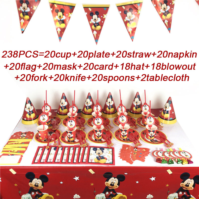 10 placas de Fiesta de Cumpleaños Vajilla Mickey Mouse Y