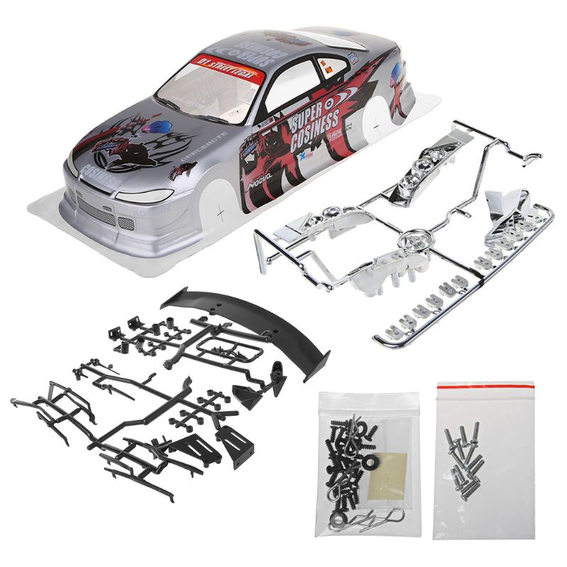 1/10 <font><b>RC</b></font> <font><b>Car</b></font> <font><b>Body</b></font> <font><b>Shell</b></font> Modification 190mm On Road Drift for Nissan S15 New 2020 image