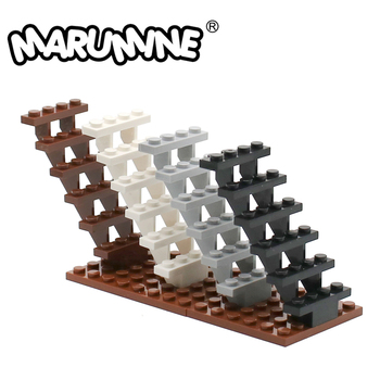 MARUMINE Staircase 7x4x6 House Stairs 30134 Steps Ladder Modular fit with Building block bricks kid DIY Classic Educational Toys - discount item  30% OFF Building & Construction Toys