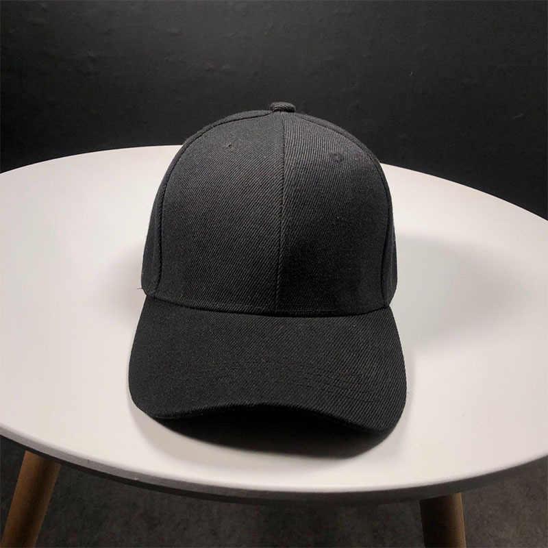 Lato 2020 gorąca bawełniana czapka baseballowa mężczyźni kapelusz jednolity kolor MultiColor Unisex kobiety czapki czapka z daszkiem wyposażone Snapback czapki na co dzień