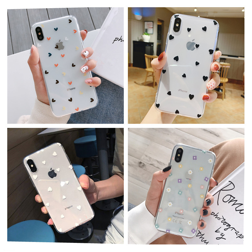 For Fundas iPhone 11 Case Cover Apple iPhone 6 6S 7 8 Plus X XS Max Flower Silicone Phone Cover Case For iphone 11 Pro Max capa