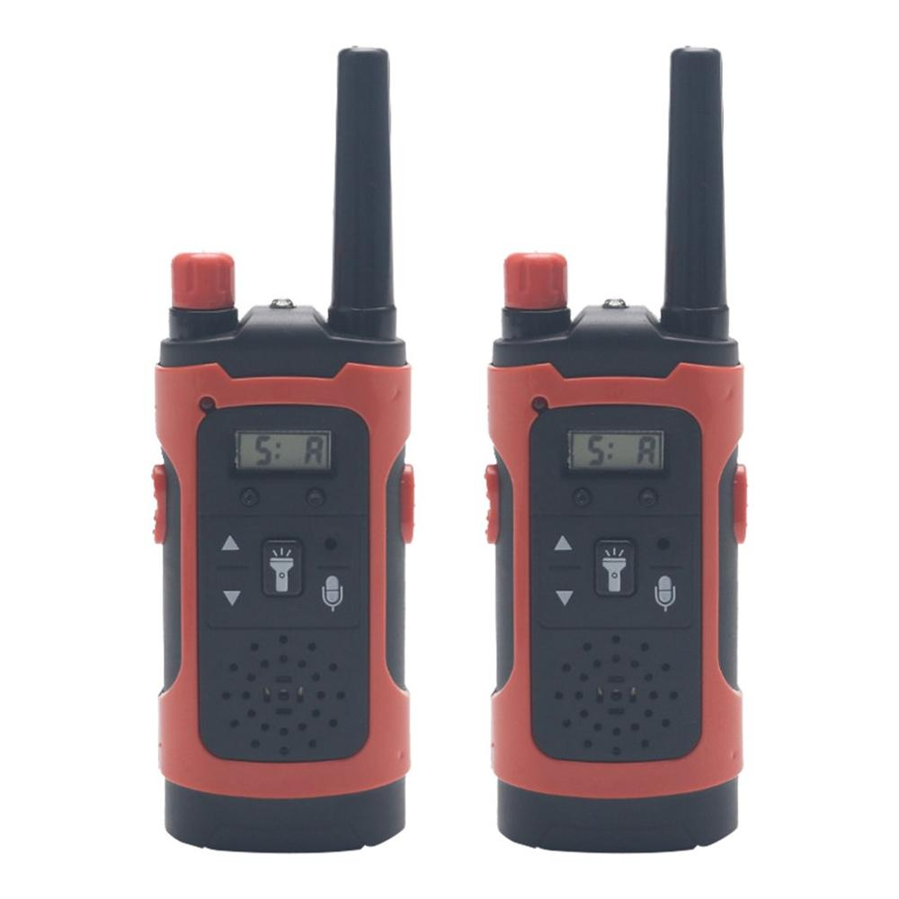 Mini 80-100M Kids Walkie Talkies Toy Child Electronic Radio Voice Interphone Toy Outdoor LCD Display Walkie Talkies Toy