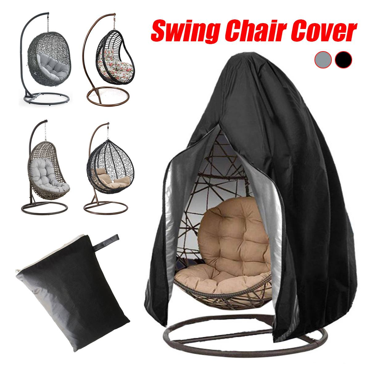 210D Large Hanging Swing Chair Cover Waterproof Patio Swing Dustproof Chair Cover For Outdoors Garden Protective Case|All-Purpose Covers| |  - title=