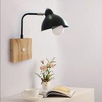 bed room desk lamp led table light e27 220v led light bulb wood base adjustable surface mounted mount lamp room desk reading luz