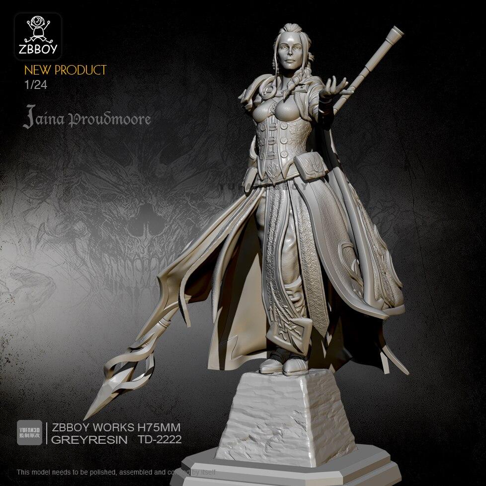 Unpainted 1//35 Elf Huntress Eagle Beauty Girl Resin Figure Model Kit Unassembled
