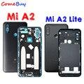 Для Xiaomi Mi A2 задняя крышка для аккумулятора задняя дверь чехол для Xiaomi Mi A2 Lite задняя крышка + кнопка включения громкости Замена