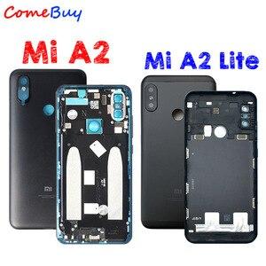 Image 1 - Carcasa trasera para Xiaomi Mi A2, carcasa trasera para batería, reemplazo de botón de volumen de encendido