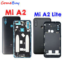 For Xiaomi Mi A2 Back Housing Battery Cover Rear Door Case For Xiaomi Mi A2 Lite Back Housing+Power Volume Button Replacement