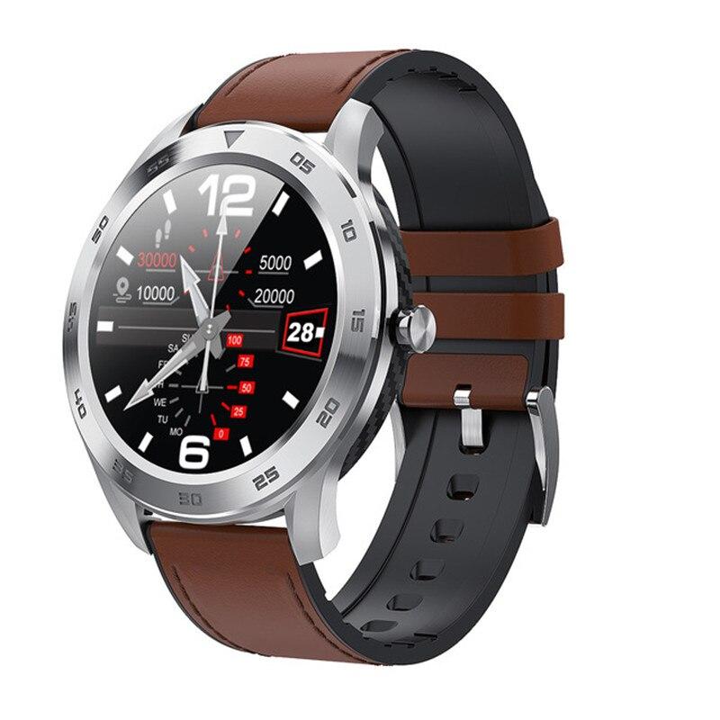 Bracelet Bluetooth pour femmes hommes montre intelligente 1.3 pouces IP68 étanche pleine presse écran Sport PPG Smartwatch Fitness Bracelet