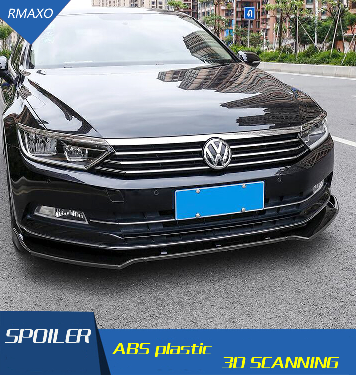 For  Volkswagen Passat B8 Body kit spoiler 2018 For Passat B8 ABS Rear lip rear spoiler front Bumper Diffuser Bumpers Protector title=