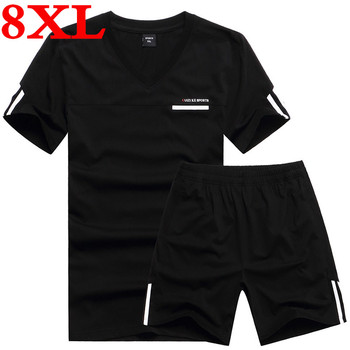 Plus  Size 8XL 7XL 6XL 5XL 2020  Summer  New  Fashion Mens Short Sleeve T Shirt Absorb Sweat Ourdoors T-shirt Male Active V-neck