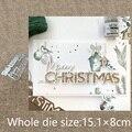 Новый дизайн, металлический трафарет для рукоделия, пресс-формы, Счастливого Рождества, украшение, скрапбукинг, высечки, альбом, бумажная ка...
