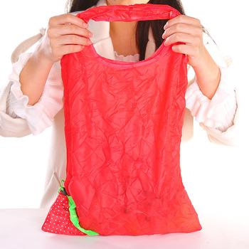 2020 moda kreatywne owoce torby na zakupy truskawka składana torba na zakupy wielokrotnego użytku torba na zakupy składana torba ekologiczna tanie i dobre opinie CN (pochodzenie) Ekologiczne Folding Na stanie Tkanina Typ zawieszenia ubrania Trójwymiarowe Storage Bags SQUARE Na rozmaitości