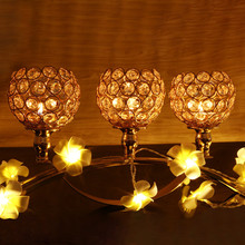 candle holders Wedding Holiday Three Crystal Candlestick Plot People Gift Decoration lantern 50XX008