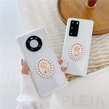 Stereo Artist Portrait Phone Case For Huawei P Mate 30 40 P30 P40 Nova 5 7 8 Pro For Honor 30 Retro Pearl Frame Soft Clear Cover
