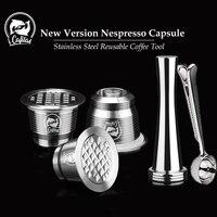 ICafilas для Nespresso многоразовые капсулы многоразовый фильтр для кофе капельница сталь Cafeteira капсулы для кафе Recargables