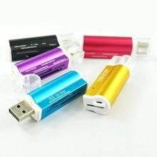 4 in 1 mikro USB 2.0 bellek kart okuyucu için usb adaptörü mikro SD kart TF M2 MMC MS PRO DUO kart okuyucu