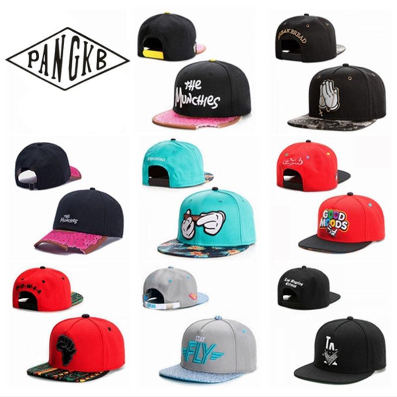 PANGKB Marke KAPPE Großhandel und einzelhandel snapback hut männer frauen erwachsene hip hop Headwear freien beiläufigen baseball kappe gorras knochen