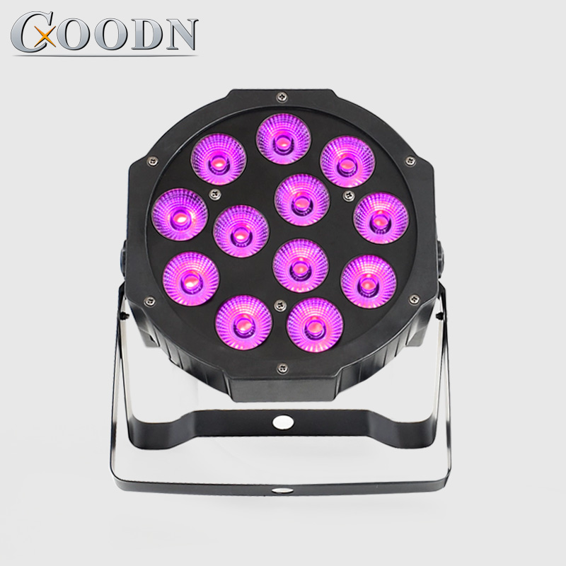 <font><b>led</b></font> flat <font><b>par</b></font> light <font><b>12X12W</b></font> RGBW <font><b>LED</b></font> dmx wash effect Stage Light Disco Club Party Light <font><b>led</b></font> mini <font><b>par</b></font> image