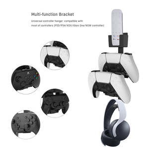 Image 5 - Wall Mount Storage Shelf Stand for PS5 for PS4 for Xbox Game Controller Universal Gamepad Headset Storage Rack Organizer