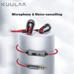 Image 2 - KUULAA spor kulaklık kulak kulaklık bas kablolu kulaklık 3.5mm Jack kulaklık kablolu iPhone Xiaomi Huawei için Fone De ouvido