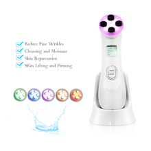 5in1 RF EMS Radio Mesotherapy Electroporation Face Beauty Pen Frequency LED Photon Skin Rejuvenation Remover Wrinkle