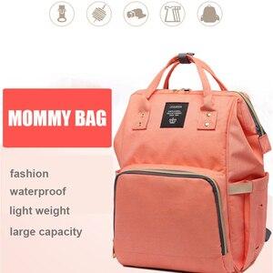 Image 1 - Lequeen Bebek Bezi Çantası Sırt Çantası Anne için Anne Çantası Büyük Kapasiteli Annelik Nappy Çanta Bebek seyahat sırt çantası Arabası bebek bakım çantası bebek çantası