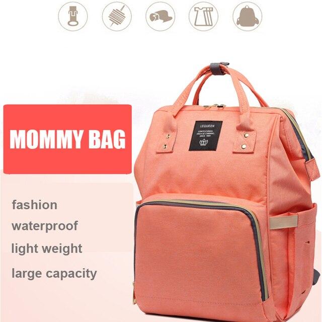 Lequeen ベビーおむつのためのママママバッグ大容量の産科おむつバッグベビーのためのベビーカー