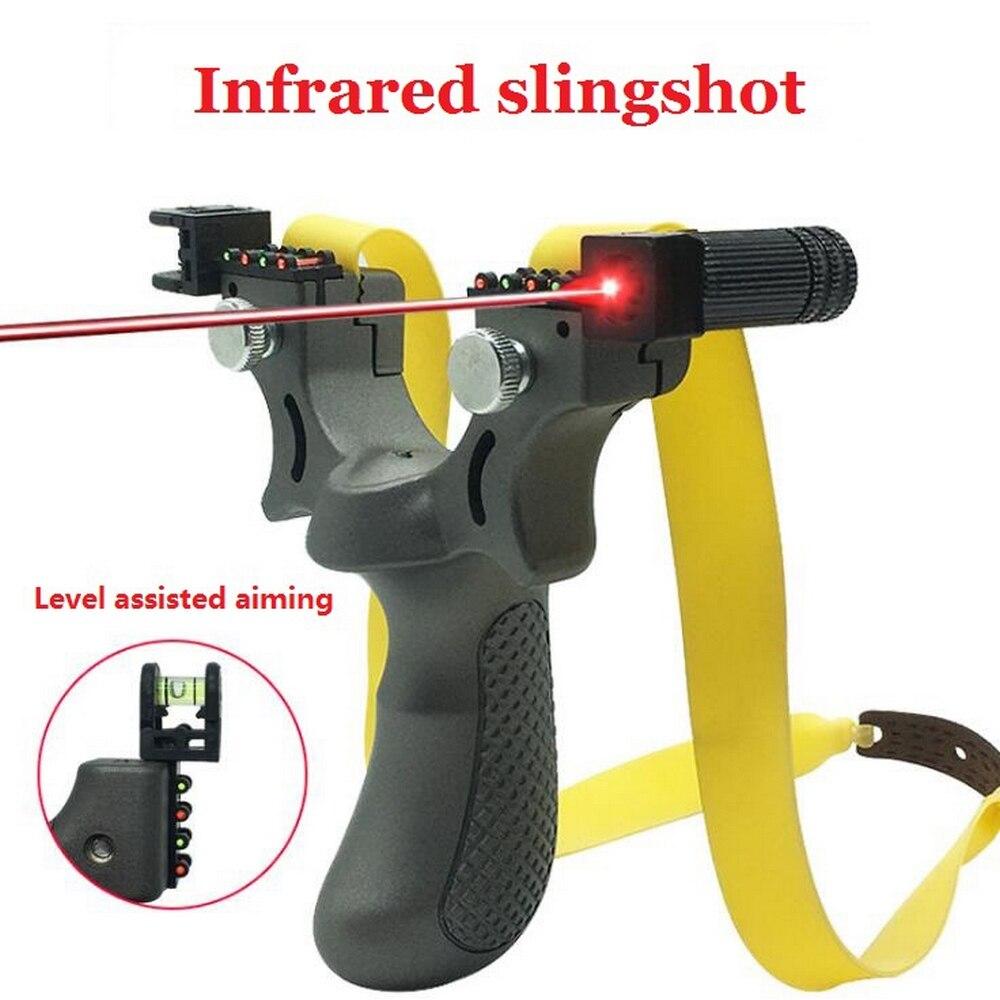 Профессиональный охотничий Рогатка с уровнем высокой точности инструмент для наружной Катапульты Рогатка шарики Лазерная стрельба
