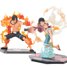 Monkey D Luffy Ace PVC Action Figure Anime One Piece Luffy Battle Ver Collectible Cartoon Model Figurine Kids Toys for Children 7 one piece monkey d luffy battle ver figuarts zero boxed pvc action figure collection model toy gift
