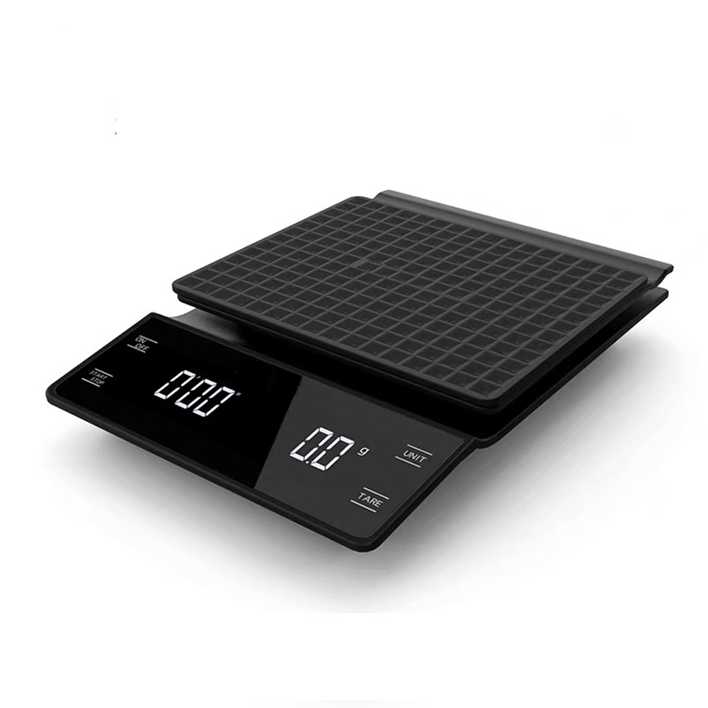 Electronic Coffee Scale Hand Punch Multi-functional Bar Counter Scale 3KG/0.1g Household Kitchen Gram Cake Scale With Timer