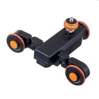 L4 mini motorizada trilha elétrica slider motor caminhão do carro para câmera câmeras dv caminhão carros com baterias|Acessórios para câmera de vídeo 360º| |  -