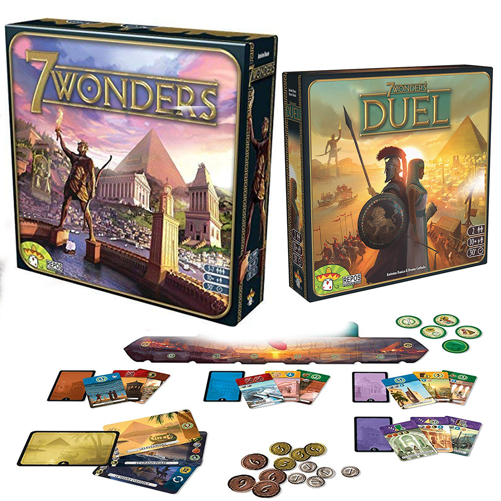 7 Wonders Board Game For 3-7 Players Strategy Duel Toy