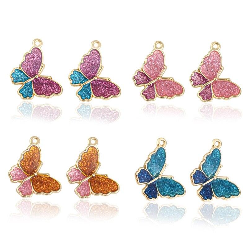 10 шт., Разноцветные Подвески в виде совы, бабочки