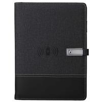 Qi Wireless Charging Note Book Power Bank Notebook MultiFunctional 8000MAh Power Bank Binder Spiral Diary Book+USB Flash Disk