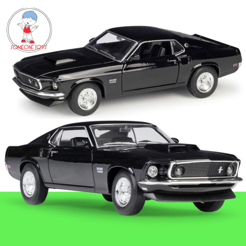 1/24 Scale Metal Alloy Classic Car Model 1969 Ford Mustang Boss 429 Diecast Car Toy Welly Collecection Toy For Kids Children