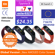 Versi Global Xiao Mi Mi Band 4 Smart Watch Denyut Jantung Aktivitas Kebugaran Tracker Smart Band Gelang Colorful Display 2019 baru(China)
