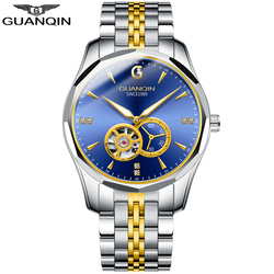 GUANQIN 2020 Business Uhr Männer Automatische Japan Männer Wolfram Stahl Wasserdicht Mode Sport Mechanische Uhr relogio masculino