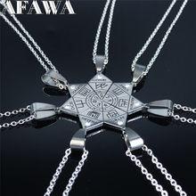 Ожерелье с подвеской из нержавеющей стали, 7 шт.