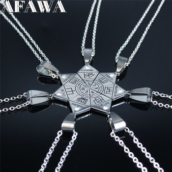 7pcs Clavicula Nox Stainless Steel Pendant Necklace Hidden Jewelry Satanic Goetia symbol Shirt Patch cadenas mujer N1052S02 image