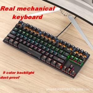 Image 3 - Gaming Mechanical Keyboard Game Anti ghosting  RGB Mix Backlit Blue Switch 87key teclado mecanico For Game Laptop PC