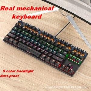 Image 3 - ゲーミングメカニカルキーボードゲーム抗ゴーストrgbミックスバックライトブルースイッチ87key teclado mecanicoゲームノートpc